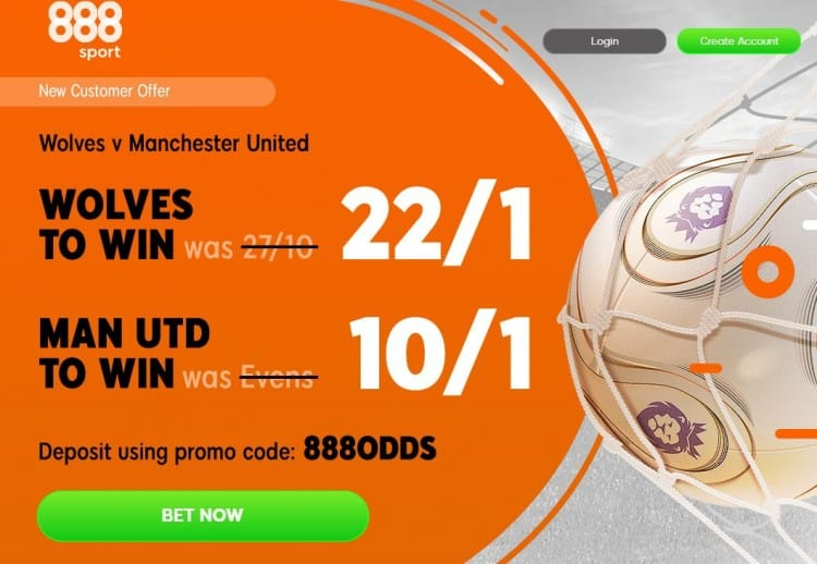 Wolves-vs-Man-Utd-888 Wolves vs Manchester United Betting Tips and Predictions: 10/1 and 17/2 Bets