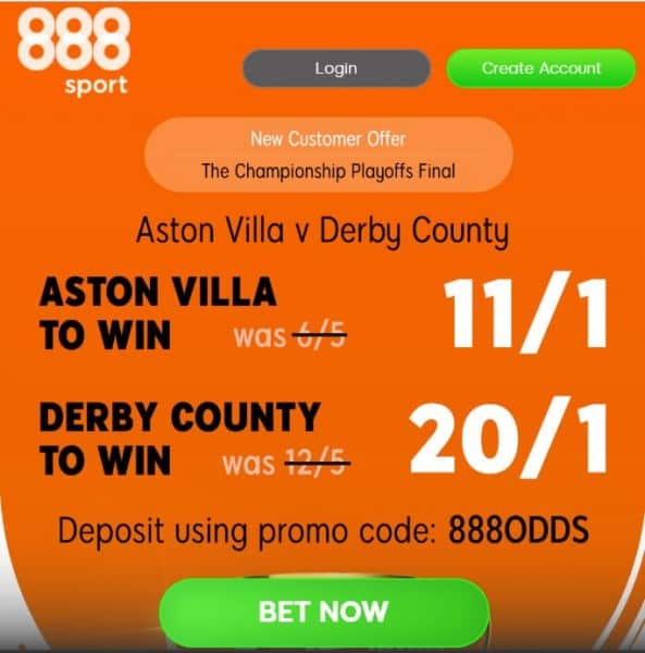 Aston-Villa-Derby-play-off-enhanced-odds Aston Villa vs Derby County Predictions and Betting Tips: Preview, Odds and H2H Stats