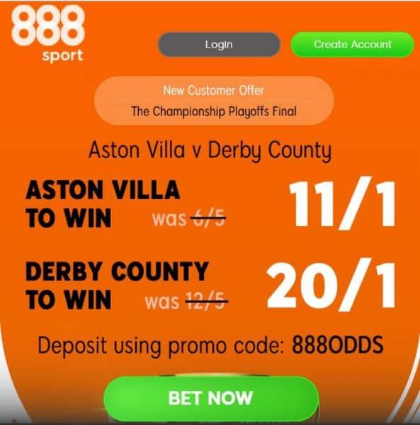 Aston Villa Derby enhanced odds