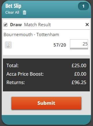 Bournemouth vs Spurs prediction