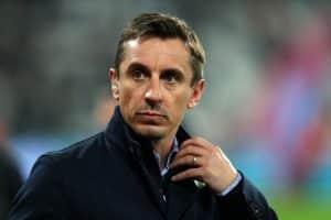 Man City Fan Throws PINT on Gary Neville at Brighton
