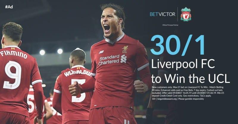 Liverpool enhanced odds UCL Final