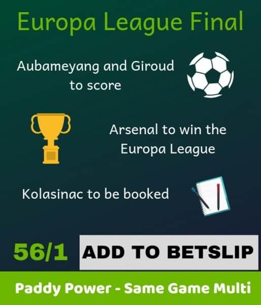 Paddy-Power-Europa-League 56/1 Europa League Final Betting Tip - Same Game Multi