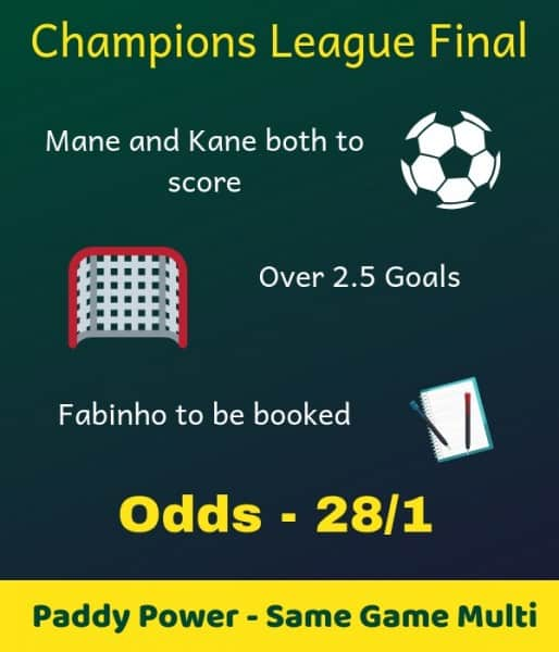 Paddy-Power-UCL-final 28/1 Champions League Final Same Game Multi at Paddy Power