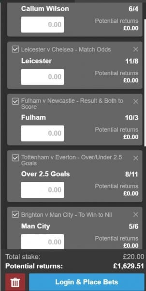 Premier League accumulator tips