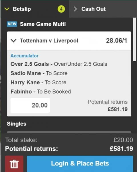 Tottenham vs Liverpool betting tip