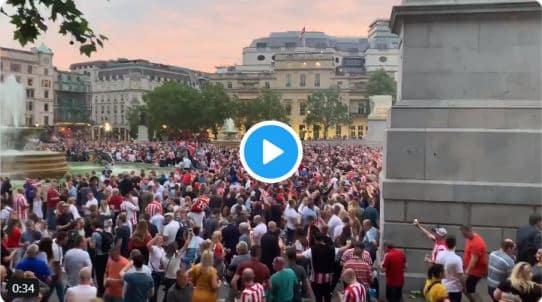 Sunderland fans Trafalgar Square