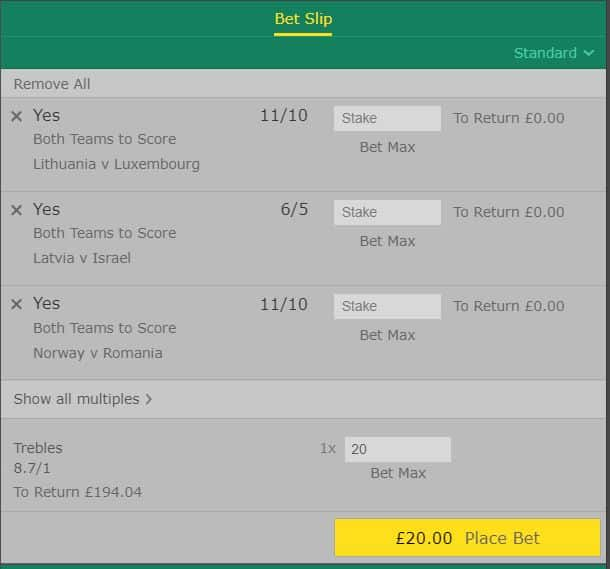 BTTS-7th-June Both Teams to Score Tips for Today from the Euro 2020 Qualifying