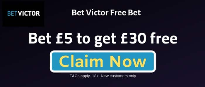 Bet-Victor-Sign-up-Offer Bet Victor Sign-up Offer, New Customer Free Bet and Promotions