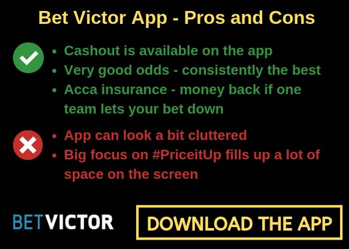 Bet-Victor-app The Best Betting Apps for Football Accumulators