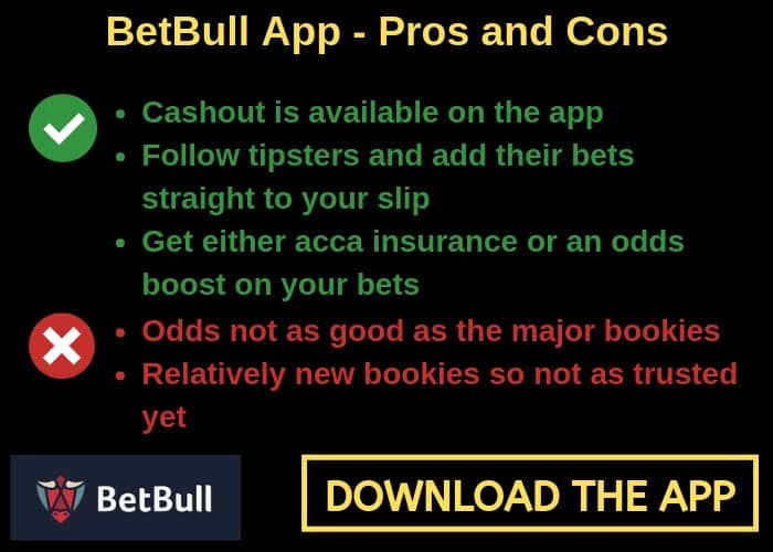 BetBull app for football accas