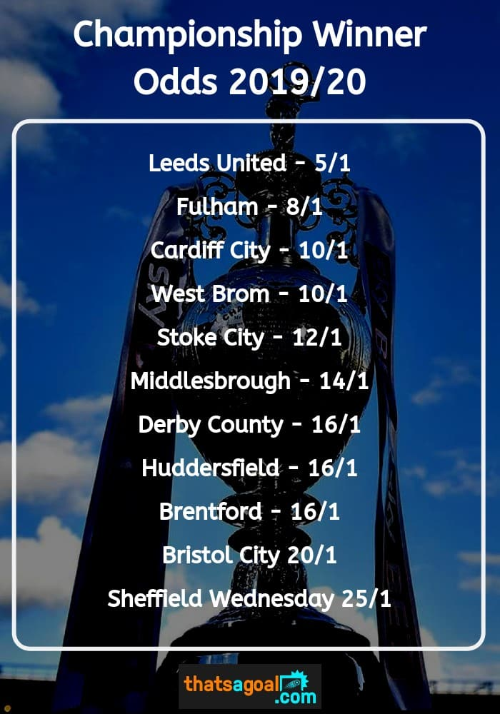 Sky Bet Championship Predictions and Betting Tips 2019/20