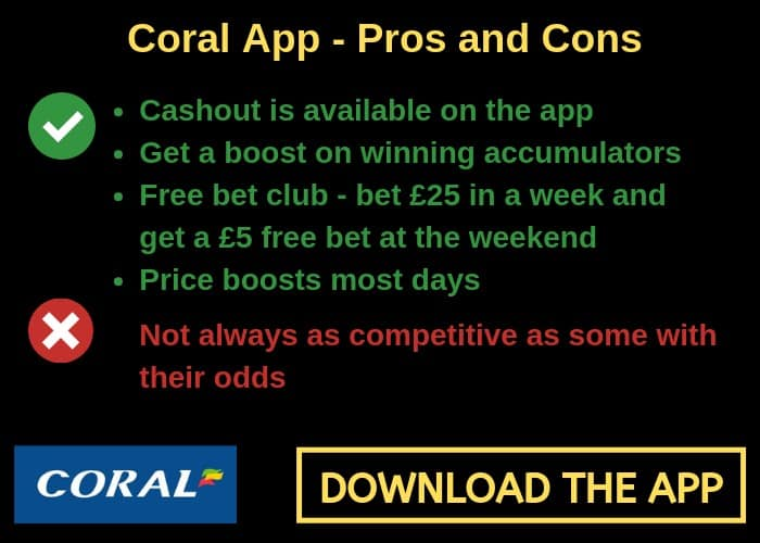 Coral betting app accumulators