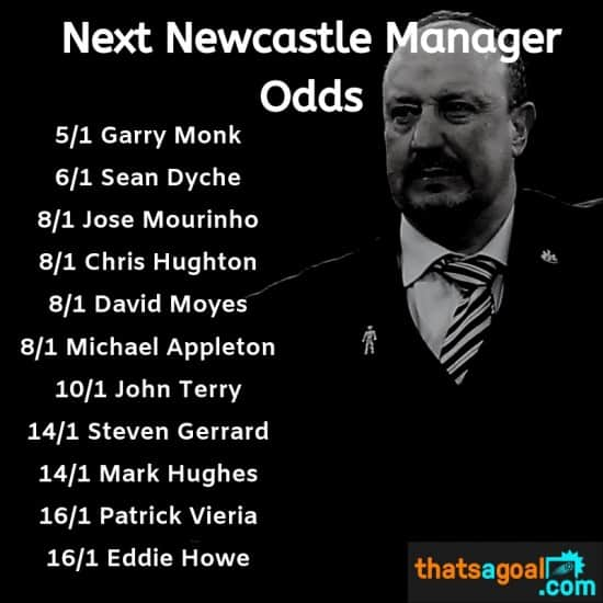 Next Newcastle Manager Odds