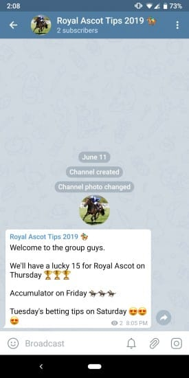 Screenshot_20190612-140808 Telegram Betting Tips Group - Get Football Tips Straight to your Mobile