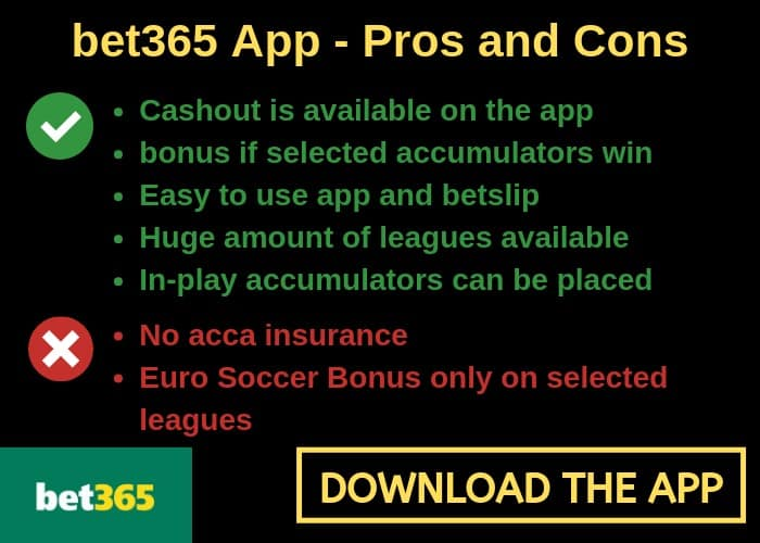 bet365 app for football betting