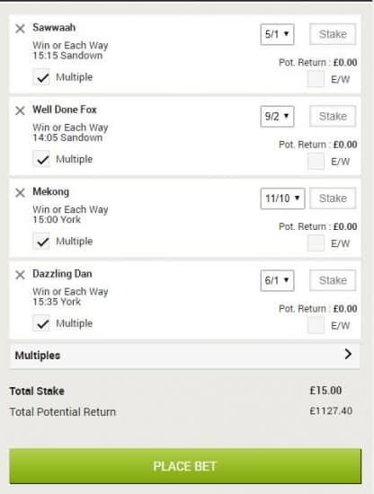 Horse racing tips 15th June