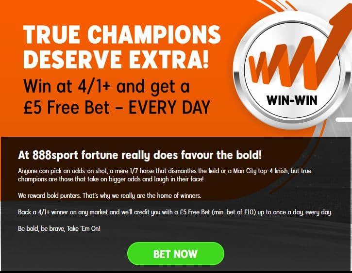 888Sport 4/1 offer