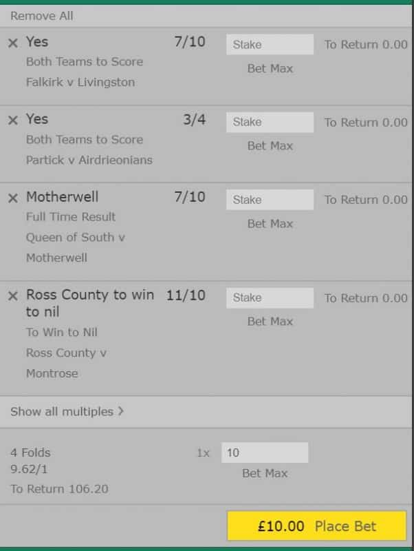 Accumulator tips Scottish Cup
