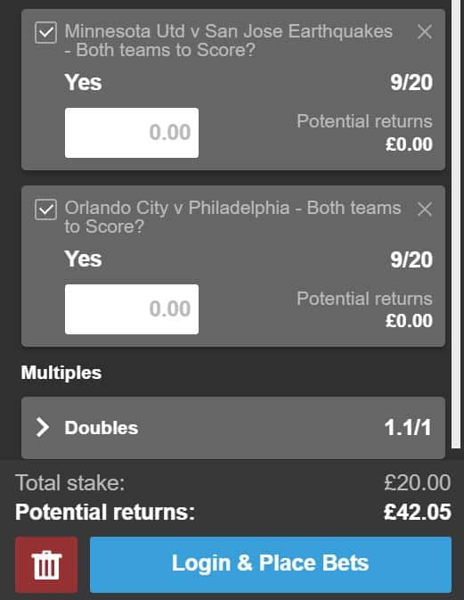 BTTS-double-3rd-July BTTS Tips Tonight - Double your money on this MLS Bet