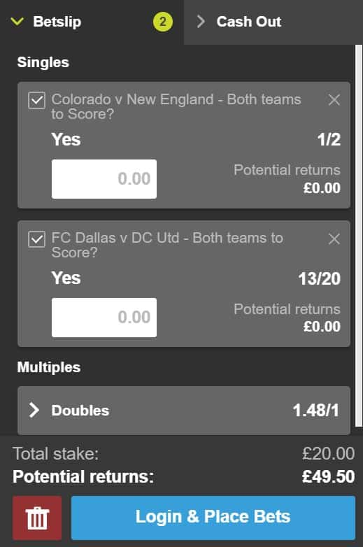 BTTS-double-5th-July BTTS Tips - Win a risk free £50 on this MLS BTTS double tonight