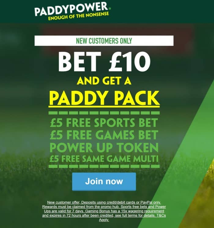 """Paddy-Pack Paddy Power Launch Brand New """"Paddy Pack"""" Sign-up Offer"""