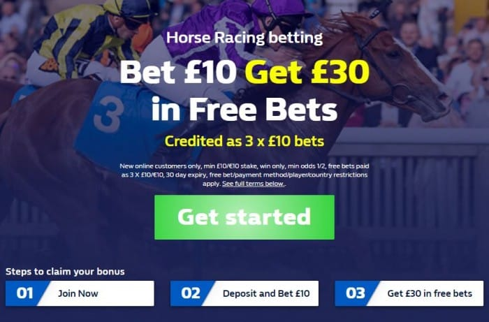 William Hill free bet racing