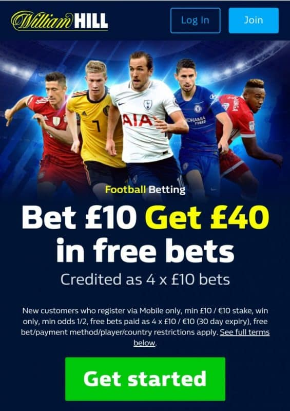William Hill July 2019 promotion