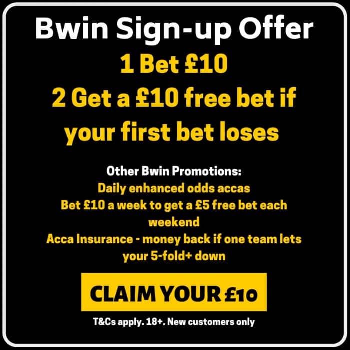 Bwin £10 free bet