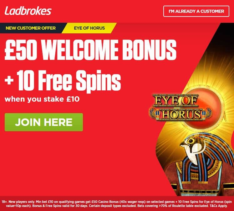Eye of Horus free spins