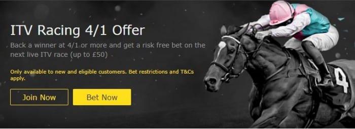 ITV Racing 4/1 offer