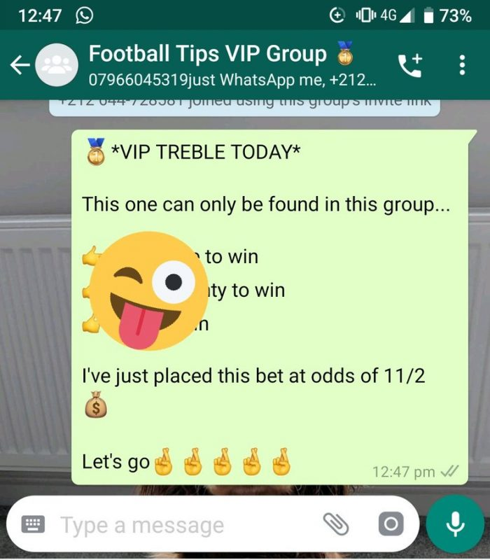 Whatsapp football tips