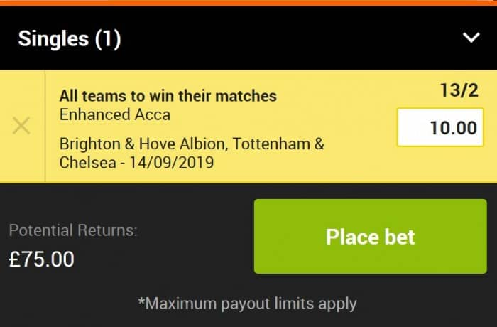 Acca-14th-Sept-888 13/2 Premier League Accumulator for Saturday 14th September