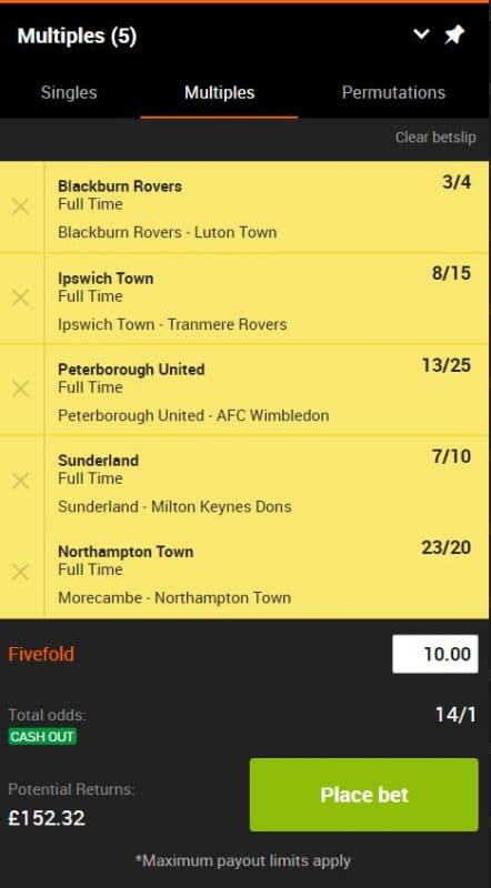 accumulator tips this weekend