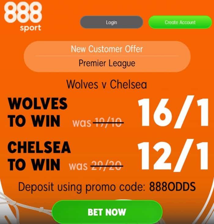 Chelsea vs Wolves offer