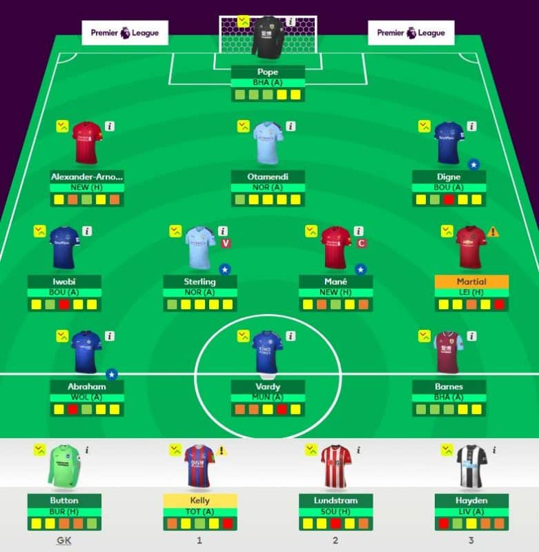Fantasy Football team gameweek 5