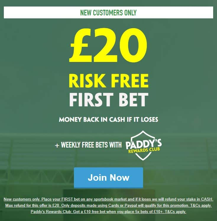 Paddy-Power-20 Football Accumulator Tips for Saturday 14th September - win £245 risk free