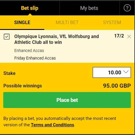 acca-13th-Sept-1 Friday 13th September Enhanced Odds Accumulator Bets