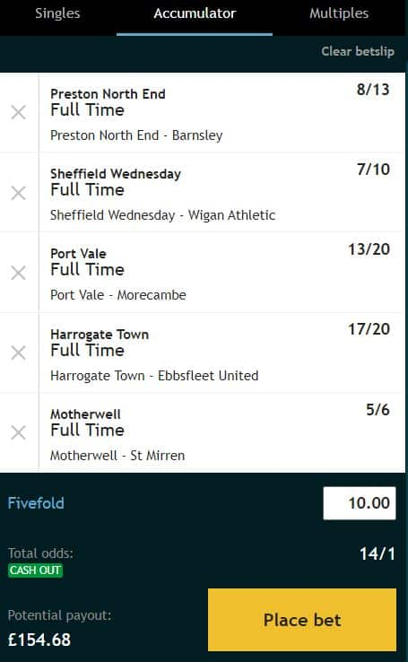 Acca Tips 5th Oct