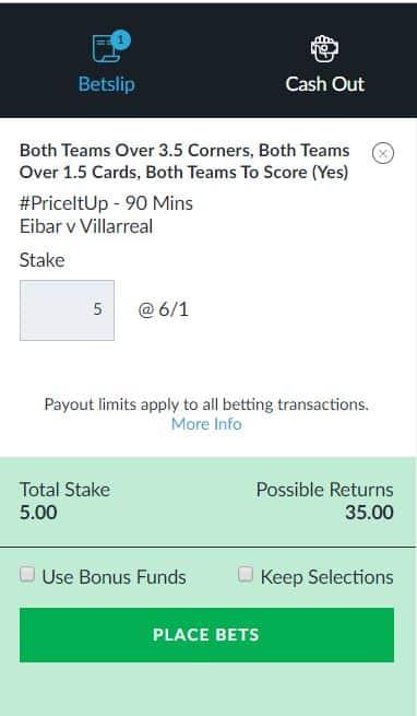 Eiber vs Villarreal tip