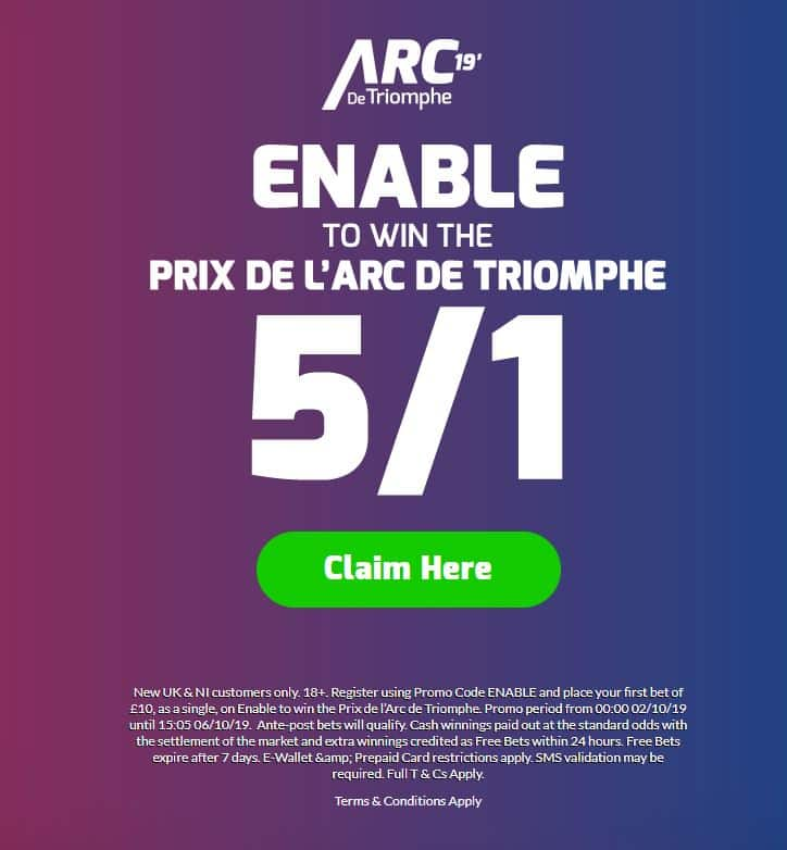Enable to win the Arc 5/1