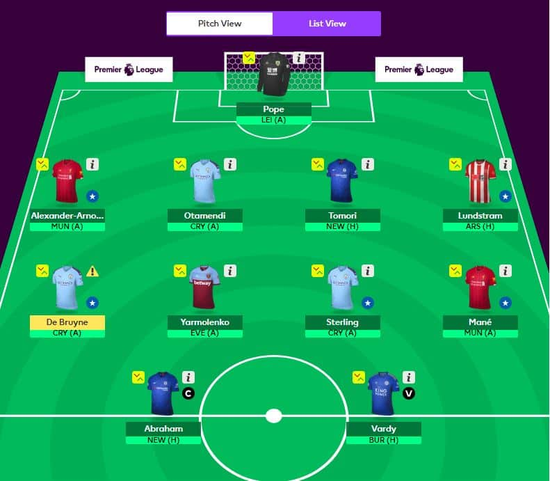 Fantasy Football GW9