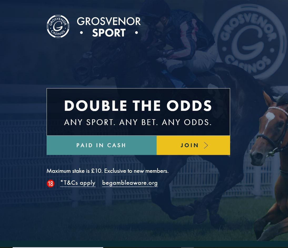 Grosvenor double odds