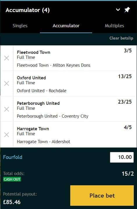 Grosvenor double odds bet