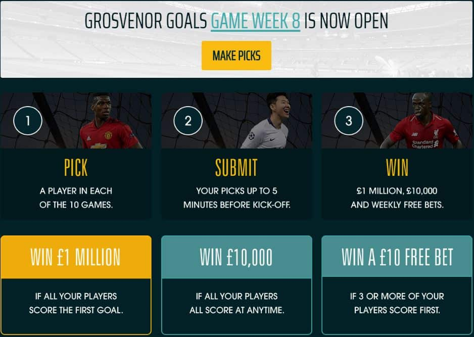 Grosvenor Goals free to play