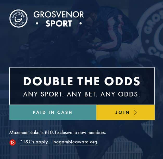 Grosvenor Sport double odds
