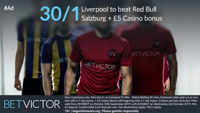 Liverpool 30/1 to win tonight