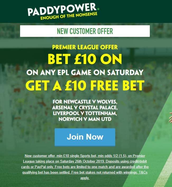 Paddy Power offer