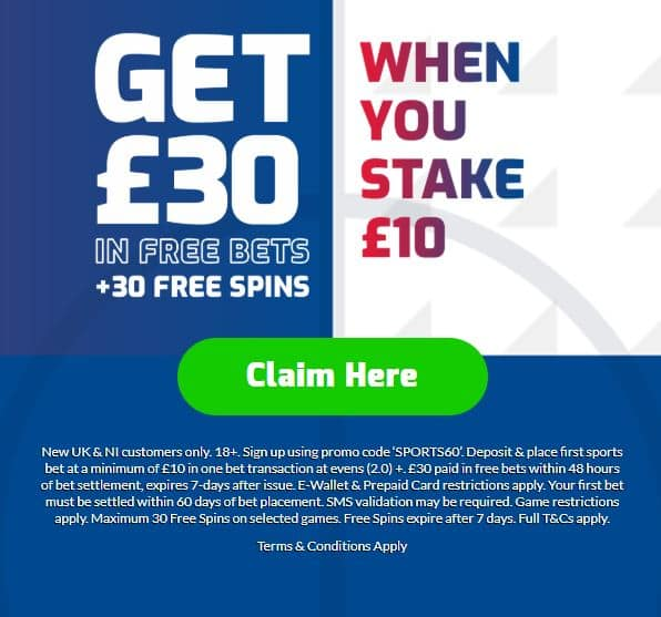Betfred sign-up free bet