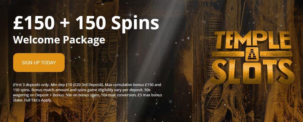 Temple Slots sign-up bonus